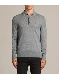 AllSaints Mode Merino Long Sleeved Polo