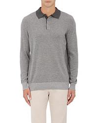 Piattelli Striped Silk Cashmere Polo Sweater