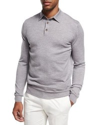 Ermenegildo Zegna Wool Cashmere Polo Sweater
