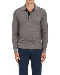 Luciano Barbera Wool Silk Polo Sweater