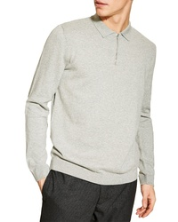 Topman Zip Long Sleeve Polo