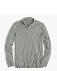 Broken in long sleeve pocket polo shirt medium 593584