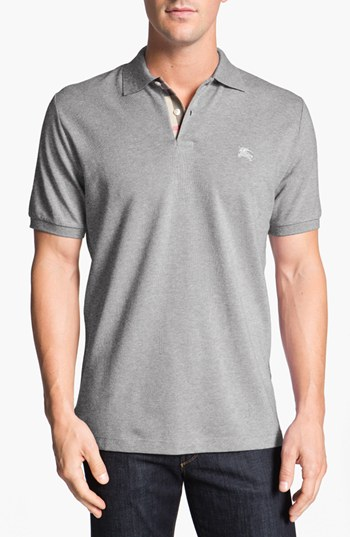 fc8083e1a285 Burberry Brit Classic Fit Pique Polo Medium Grey Xxx Large   Where ...