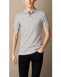 edf926e14c9d Men s Grey Polos from Burberry   Men s Fashion   Lookastic.com