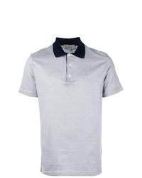 Canali Contrasting Collar Polo Shirt