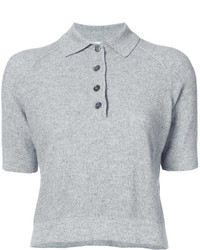 Oscar de la Renta Knitted Polo Top