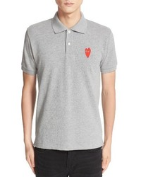 Comme des Garcons Play Stretch Heart Face Polo