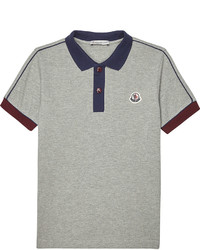 Moncler Striped Sleeve Cotton Polo Shirt 4 14 Years
