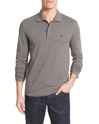 Swiss army tailored fit long sleeve zip polo medium 3684112