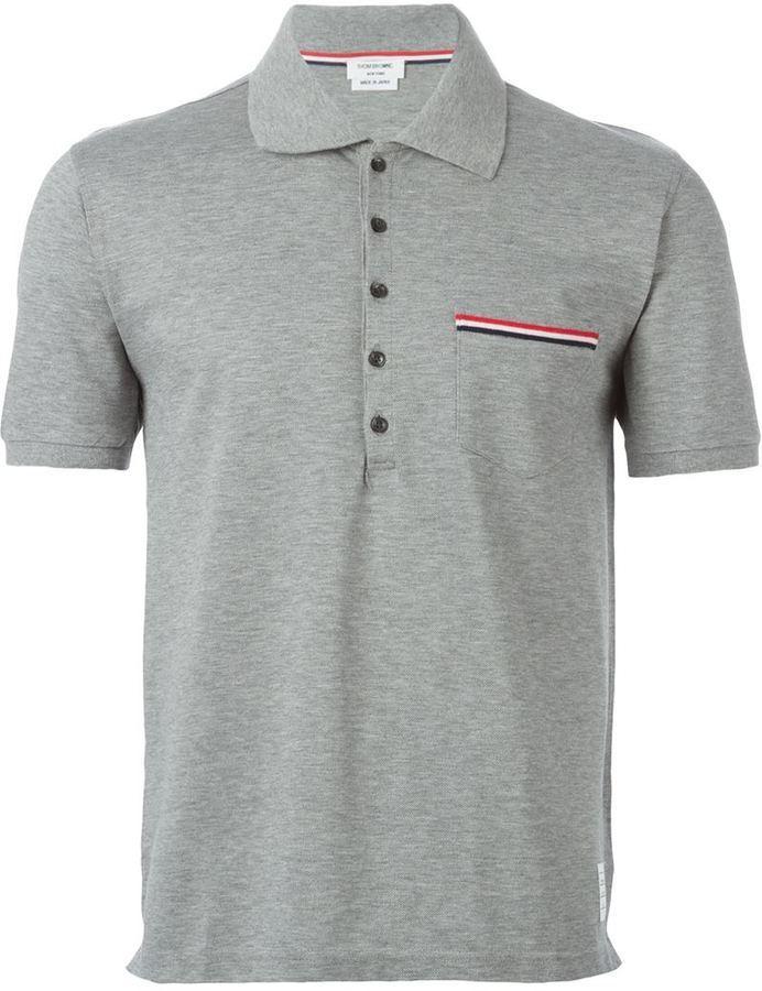 70299283ef5 Thom Browne Pocket Polo Shirt, $325 | farfetch.com | Lookastic.com