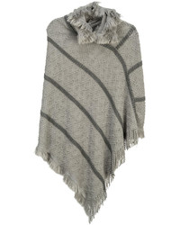 Arianna Hooded Knit Poncho