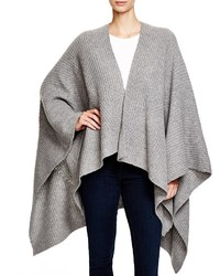 Bloomingdale's C By Shaker Stitch Blanket Poncho