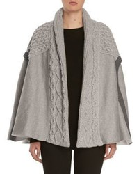 Burberry Cable Knit Panelled Poncho