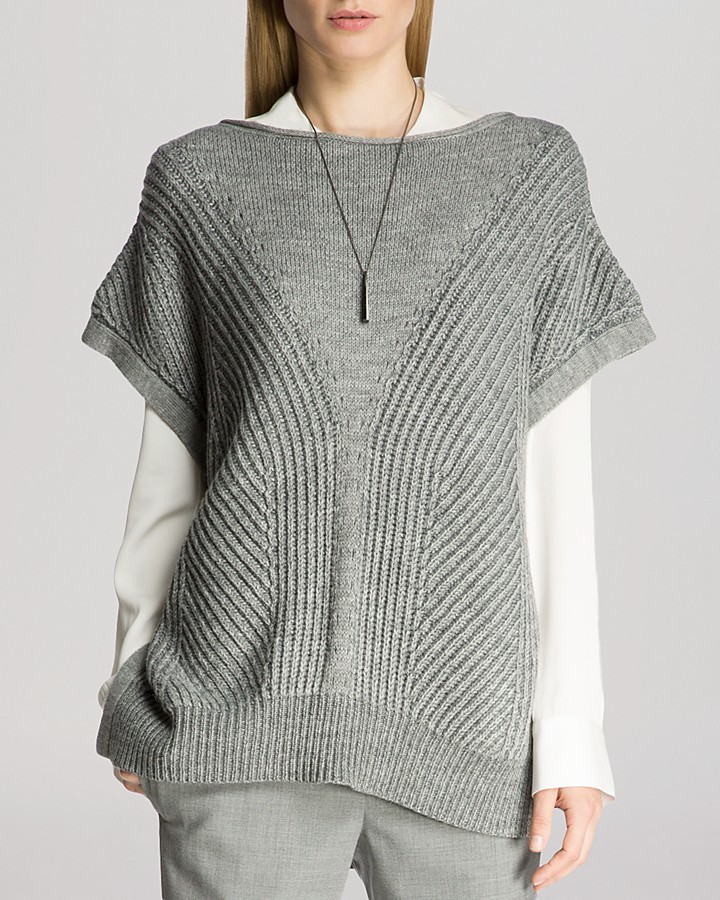 Halston Heritage Sweater Short Sleeve Poncho | Where to buy & how ...