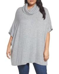 Plus Size Caslon Turtleneck Poncho Sweater