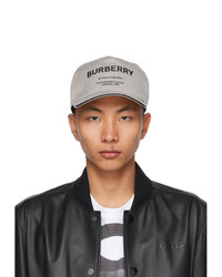 Burberry Black And White Canvas Horseferry Baseball Cap