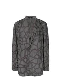 Issey Miyake Men Abstract Print Jacket