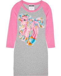 Moschino My Little Pony Printed Stretch Cotton Jersey Mini Dress