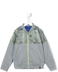 Armani Junior Logo Printed Bomber Jacket