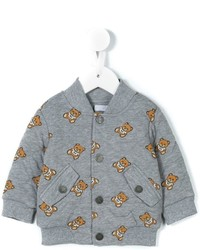 Moschino Kids Teddy Bear Quilted Bomber Jacket