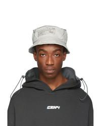 Grey Print Bucket Hat