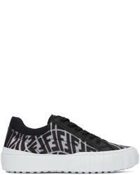 Fendi Black Transparent Ff Vertigo Force Sneakers