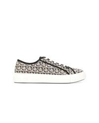 Salvatore Ferragamo Gancini Print Sneakers