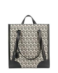 Grey Print Canvas Tote Bag