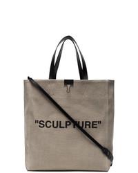 Neutral sculpture canvas tote bag medium 8689704