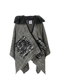 Moncler Embroidered Draped Cape
