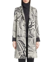 Grey Print Coat