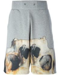 Givenchy Skull Print Sweat Shorts
