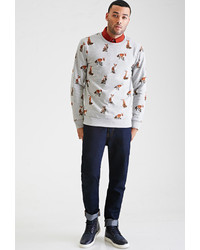 21men 21 Fox Print Sweatshirt