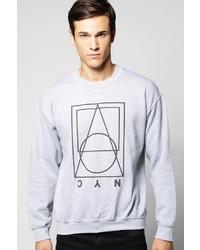 Boohoo 3d Print Nyc Crew Neck Sweater