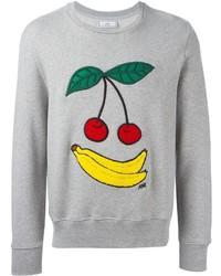 AMI Alexandre Mattiussi Cherries And Banana Embroidered Sweatshirt