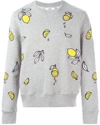 AMI Alexandre Mattiussi Embroidered Lemon Sweatshirt