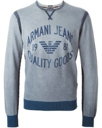 Armani Jeans Logo Print Sweatshirt