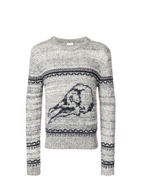 Saint Laurent Bird Knit Sweater