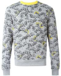 Carven Ginkgo Flower Print Sweatshirt