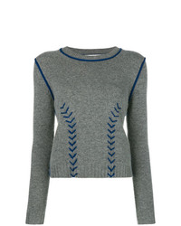 Contrast stitch sweater medium 8553748