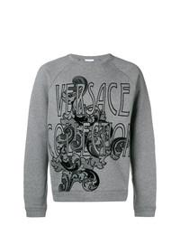 Versace Collection Crew Neck Logo Jumper