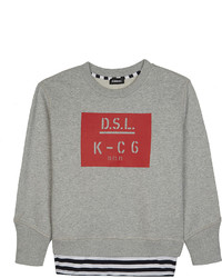 Diesel Dsl Logo Cotton Jumper 6 16 Years