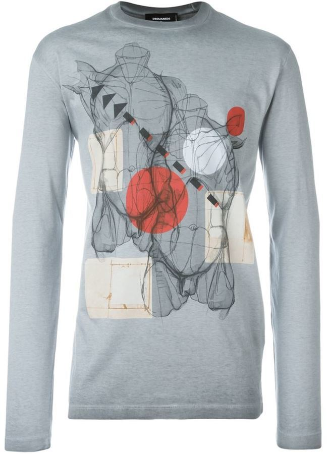 Dsquared2 Anatomy Print T Shirt Where To Buy How To Wear