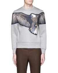 Neil Barrett Eagle Print Patch Neoprene Sweatshirt