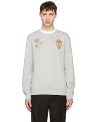 Alexander McQueen Grey Bullion Sweatshirt