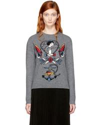 Valentino Grey Cupid Joe Mary Tattoo Sweater