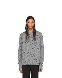 Balenciaga Grey Jacquard Sweater