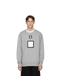 Burberry Grey Melange Cut Out Sweater
