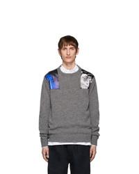 Raf Simons Grey Wool Crewneck Sweater