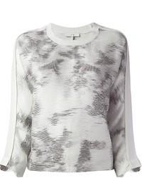 IRO Faded Print Sweater Style Top